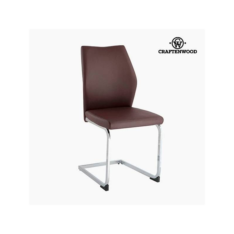 Leather Chair Brown (42x59x105 Cm) By Craftenwood