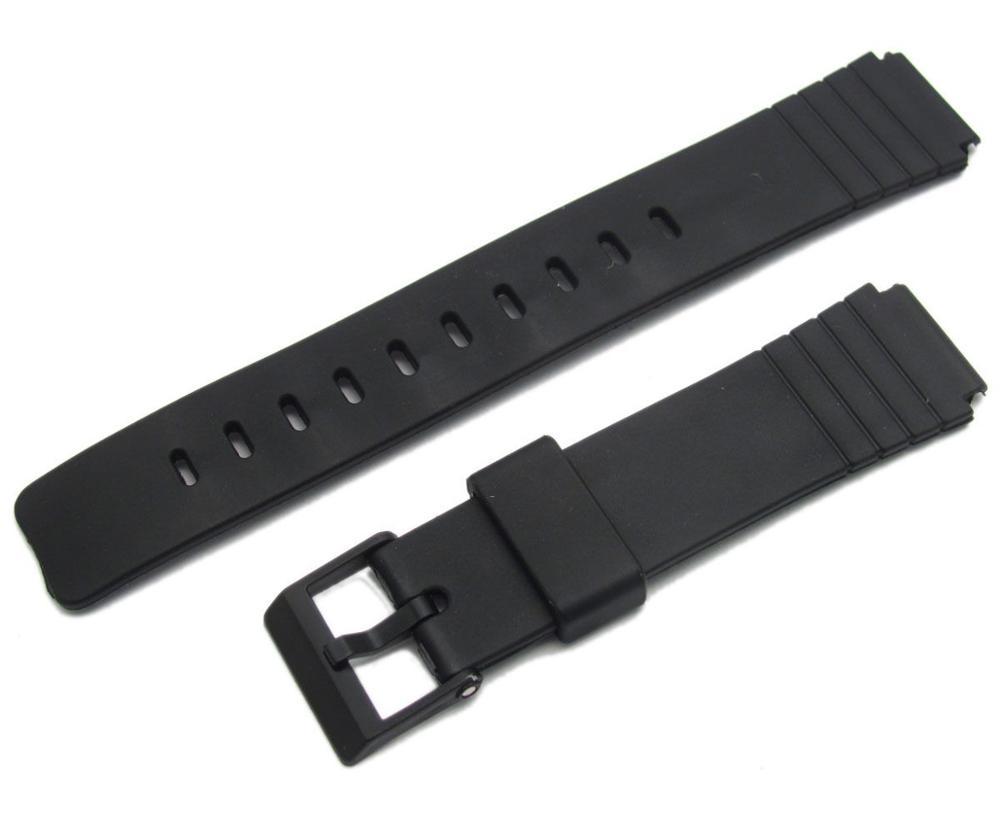 Correa De Plastico Negro For Casio Watch Model MQ-24 16mm, Nueva