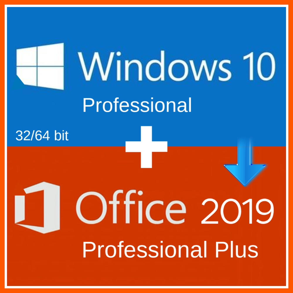 Windows 10 Pro Professionele + Office 2019 Pro Plus 2019 Activering Code Sleutel Meertalige