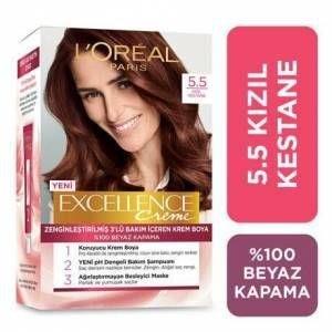 Loreal Excellence farba do włosów 5 5 jasny kasztan Akaju 247227913 tanie i dobre opinie