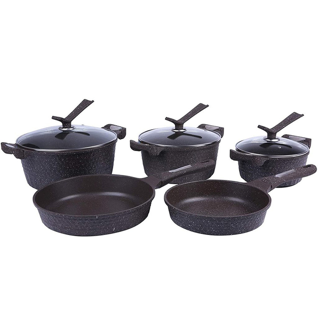 5pcs Stainless Steel Pots and Pans Sets, Classic Cookware Set 1