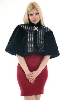 Redpoint Faux Fur (sztuczne futro) Bolero broszka prezent 446904987 tanie i dobre opinie
