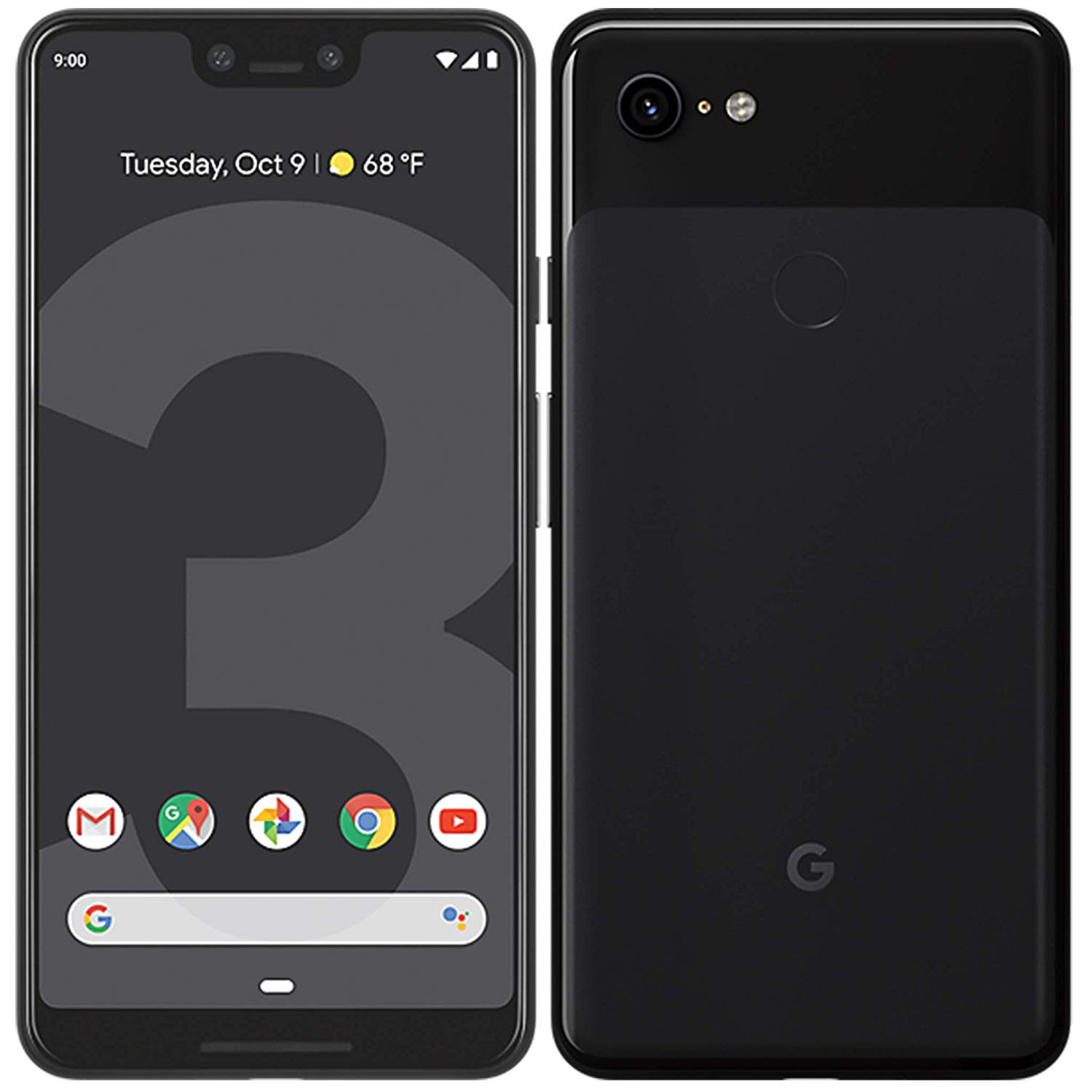 Google Pixel 3 XL (G013C), Band 4G/LTE/WiFi, internal 128 GB de Memoria, 4GB Ram, Screen 6.3 , Camera de image