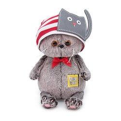 Soft toy Budi Basa Cat Basik Baby cap with a cat,