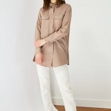 Brown Shirt Collar Tunic Muslim Clothing Muslim Fashion Spring Summer Collection Hot Sale Free Shipping