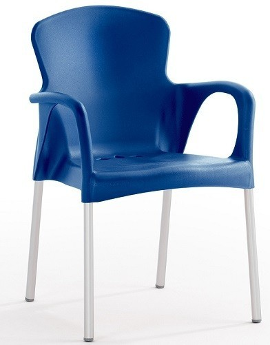 Armchair SEINE Stackable Polypropylene Blue *