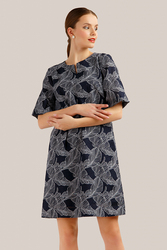 Finn Flare летнее платье расклешенного кроя из ткани с растительным принтом и подкладкой из хлопка