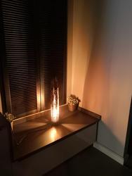 Lámpara de bambú luz de noche lámpara de cabecera lámpara decorativa escritorio  lámparas de madera lámpara hecha a mano iluminación decoración lámpara turca Hecho en Turquía