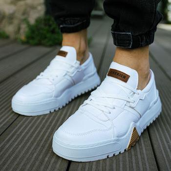 Chekich Męskie buty Biały kolor Sznurowane Sztuczna skóra Spiralne i jesienne sezony 2021 Oddychające Wygodne Na co dzień Męskie Lekkie trampki Tkanina Codzienne płótno Wysoka podeszwa zewnętrzna Obuwie CH067 tanie i dobre opinie TR (pochodzenie) Lato Mieszane kolory Fabric Buty casualowe Dobrze pasuje do rozmiaru wybierz swój normalny rozmiar podstawowe