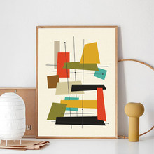Meados do século moderno abstrato poster imprime retro arte da parede pintura da lona fotos para sala de estar decoração casa