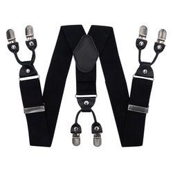 Hosenträger für hosen breite (4 cm, 6 clips, schwarz) 53957