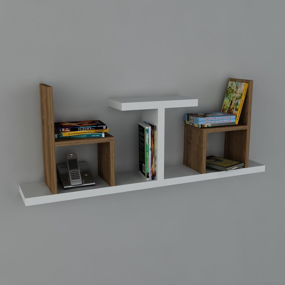 Estante y estante Hecho en Turquía estante moderno decorativo de nogal sala de estar de madera soporte de libro de pared organizador estante estantería