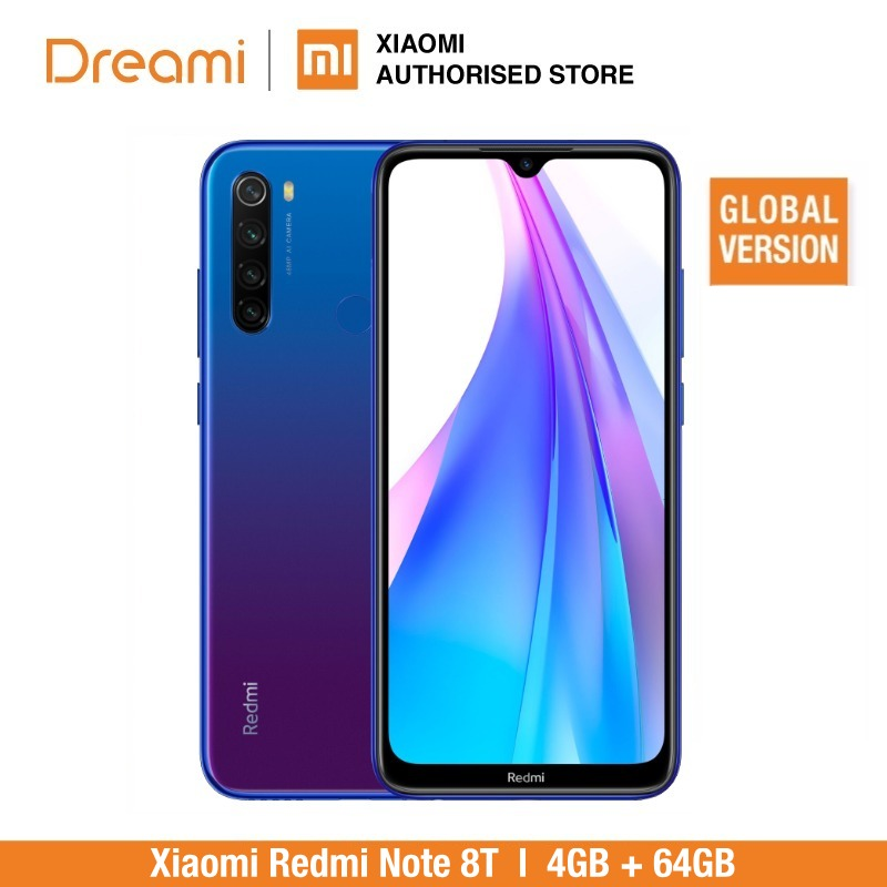 Global Version Xiaomi Redmi Note 8T 64GB ROM 4GB RAM (Official Rom), Note 8 T, Note8t, Note8