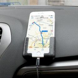 조정 가능한 너비 GPS 디스플레이 브래킷 전화 스탠드 자기 접착 다기능 자동차 인테리어 액세서리 자동차 핸드폰 홀더