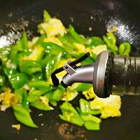 青椒炒鸡蛋#太太乐鲜鸡汁芝麻香油#的做法图解12