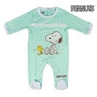 Baby der Langen ärmeln Romper Anzug Snoopy 74652 Türkis auf