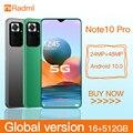 Radmi Примечание 10 Pro Смартфон Android 10 128 ГБ 6,7 дюймов Смарт-телефонов разблокированные 5g глобальная версия мобильных телефонов 512 ГБ мобильные т...
