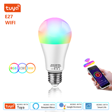 WIFI Tuya Smart Led lampada E27 lampadine a Led 220V RGB CW WW per casa dimmerabile Smart Life APP controllo vocale per Google Home Alexa
