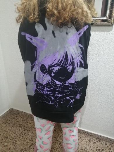 E-girl E-boy Harajuku Anime Cute Girl Oversized Hooded Sweatshirt photo review