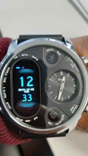 LEMFO Dual Display Smart Watch Men IP67 Waterproof Heart Rate Blood Pressure Message Push Smartwatch Women Standby 15 Days Smart Watches    - AliExpress