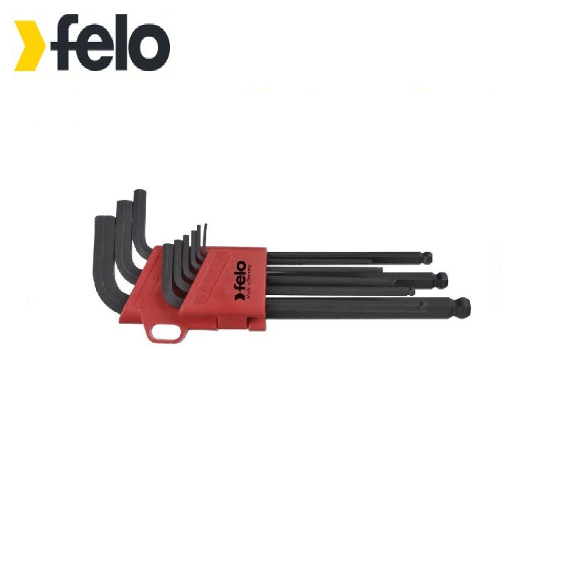 Felo Ball Hex Key Set 9 pcs 35500901 Allen wrench Used with headless screws Rozhkovy, cap, combined keys