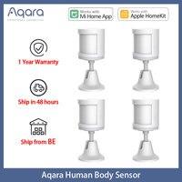 Aqara-sensores de movimiento Zigbee para el hogar, Sensor inteligente inalámbrico de cuerpo humano para la aplicación Xiaomi Mi Home, EU y RU