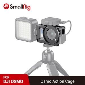Image 1 - SmallRig Vlog kafesi DJI Osmo eylem (uyumlu w/mikrofon adaptörü) uyumlu w/CYNOVA çift 3.5mm USB C adaptörü 2475