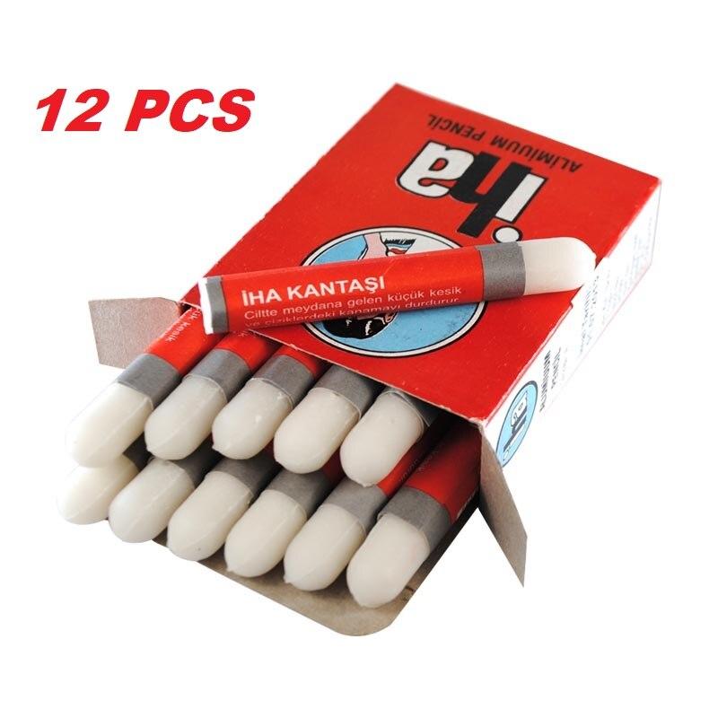 IHA Styptıc Pen Type Tradıtıonal Shavıng Cut Blood Stopper-Alum 12pcs