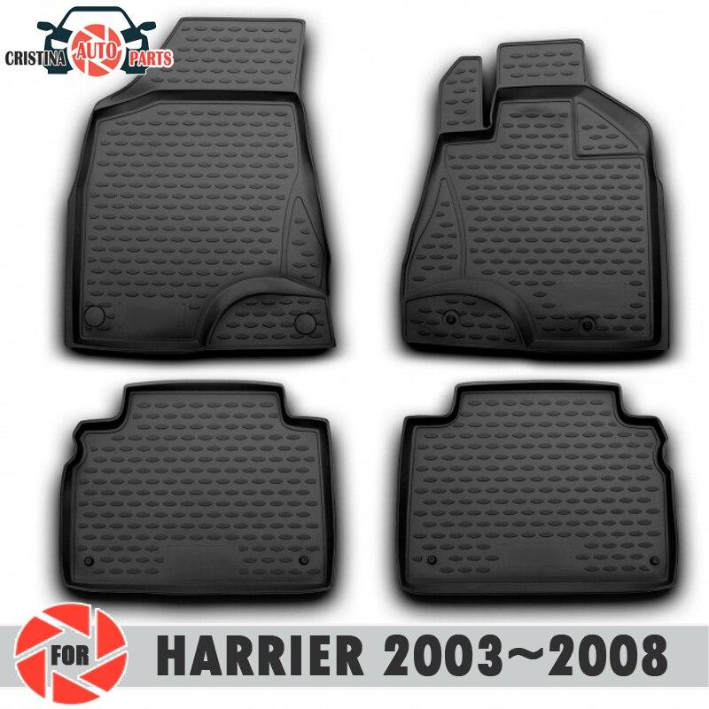 Tapis de sol pour Toyota Harrier 2003 ~ 2008 tapis d'entraînement à droite antidérapant polyuréthane protection contre la saleté intérieur de voiture