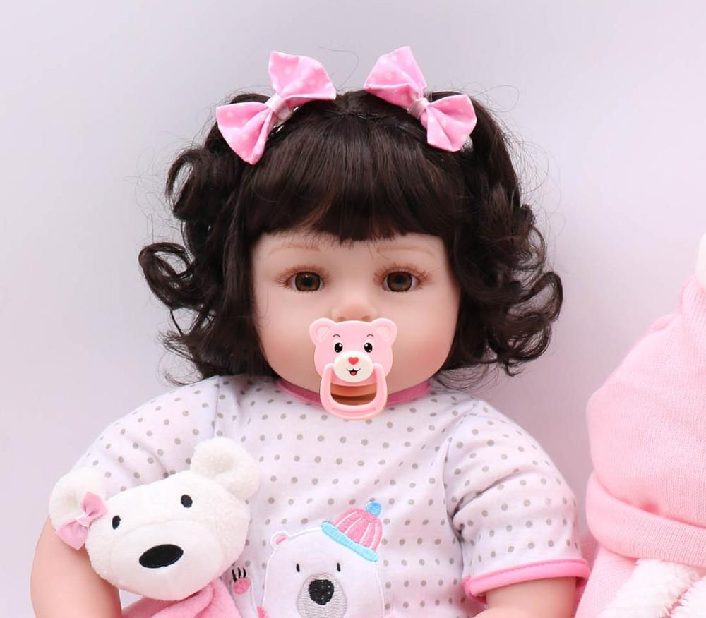 55 cm corps entier silicone régénération poupée princesse ours poupée lol jouet cadeau de noël anniversaire surprise cadeau