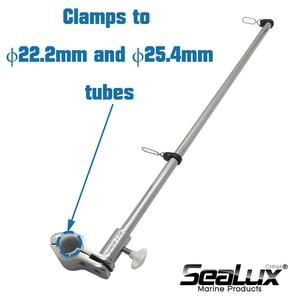 Image 4 - Sealux Marine Grade Stainless Steel 304 Flag Pole for ϕ22.2mm and ϕ25.4mm rail Boat Yacht Car RV Fishing Marine Accessories