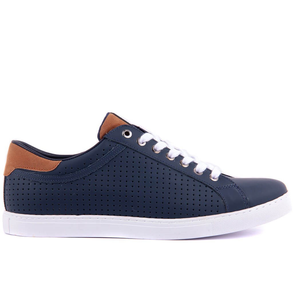 Sail Lakers-Navy Blue Leather Men 'S Casual Shoes