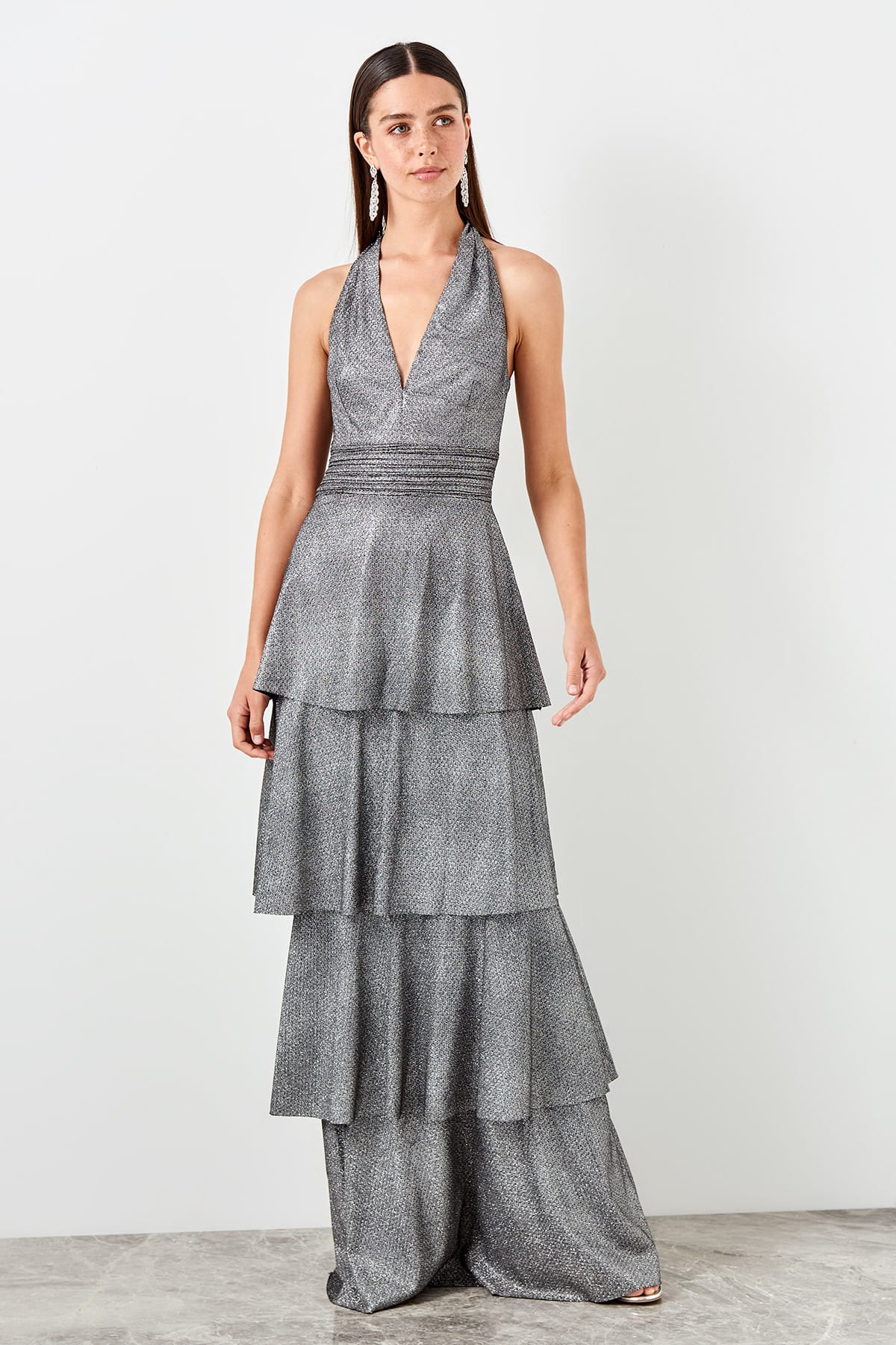 Trendyol Ruffle Evening Dress TPRSS19BB0414