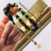 Islam Muslim rosary beads rosary bracelets for men and 16 amber rosary prayer accessories for men handmade stone turkey model 5
