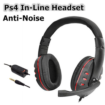 Ps4 Wired Headwear Headphone With Anti-Noise Microphone 3.5mm StereoHIFIGaming In-Line SportEarphone Headset For PC Computer kz ed2 in ear earphone wired hifi headset anti noise enthusiast special use for iphone xiaomi with 3 pair earmuffs