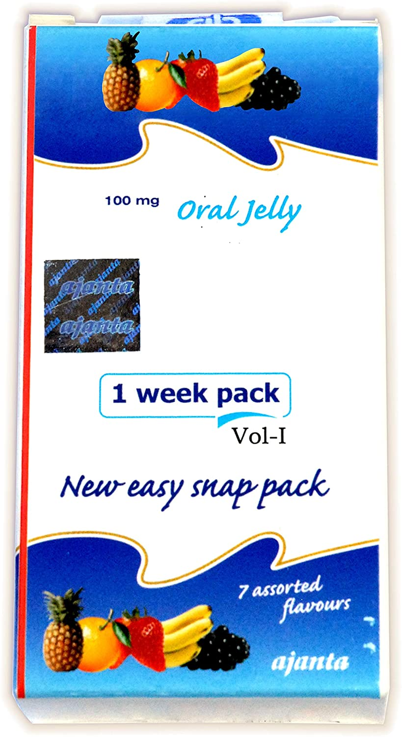 Men K Oral Jelly - 7 Assorted Fruit Flavors - 1 Week Pack