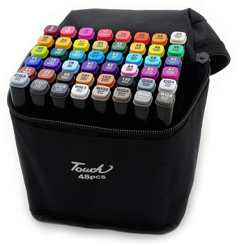Markers for sketching sets 24 PCs, 36 PCs, 48 PCs, 60 PCs and 80 pcs markers for artists sketch markers with two tips