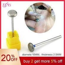 BNG 2 шт./лот сверло для ногтей твердосплавное роторное для чистки кутикулы для электрического маникюра и педикюра круглое алмазное сверло для ногтей