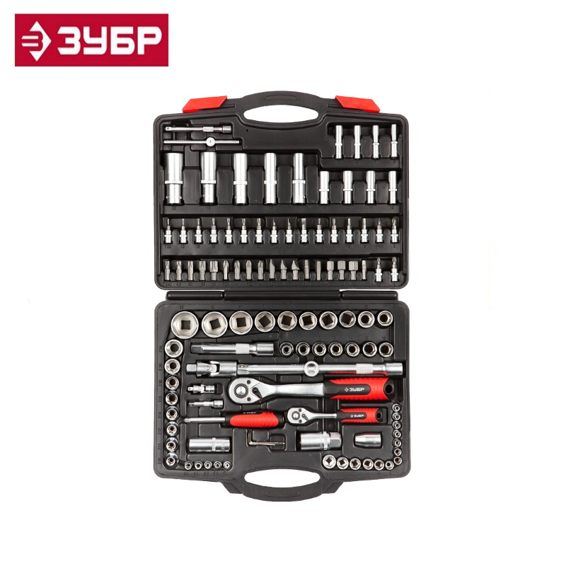ZUBR Mx-110 universal tool kit 110 pcs. Accessories for drills, screwdrivers and wrenches universal nutrition аминокислоты universal amino 1900 110 таб