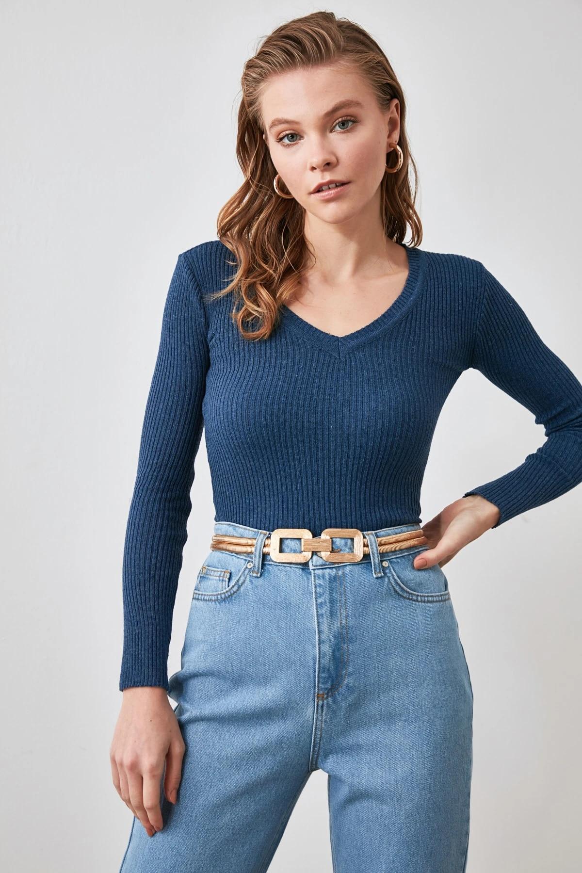 Вязаный свитер в рубчик TWOAW21KZ1224
