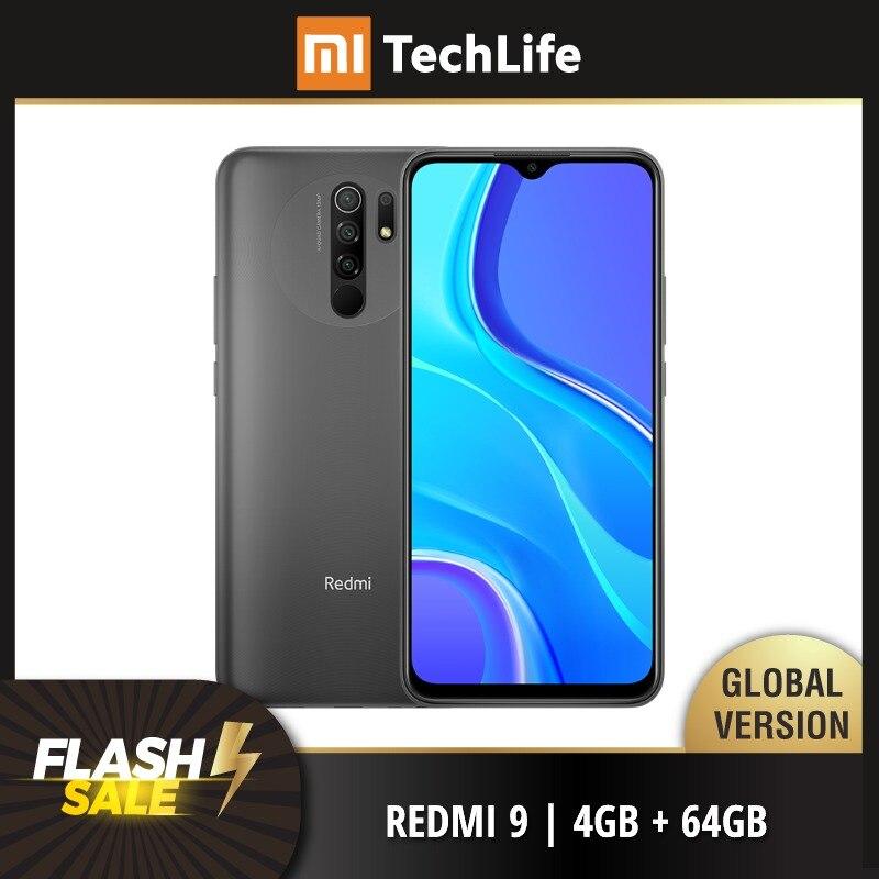 Глобальная версия Xiaomi Redmi 9 64 Гб ROM 4 Гб RAM (абсолютно новая/герметичная) redmi9, redmi9 64, смартфон, мобильный, телефон, Смартфоны