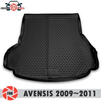 Trunk mat for Toyota Avensis 2009~2011 SEDAN trunk floor rugs non slip polyurethane dirt protection interior trunk car styling фото