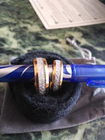 Bague météorite 6 mm en tungstène bijoux météorites confortables