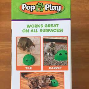 Image 5 - POP N PLAY Cat Toy Funny Cat Toy Cat Scratching Device Cat Scratching Post Toy Material for Cat Sharpen Claw pop play cat toy