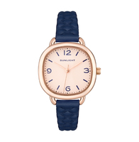 Classic Ladies Watch with leather belt sunlight