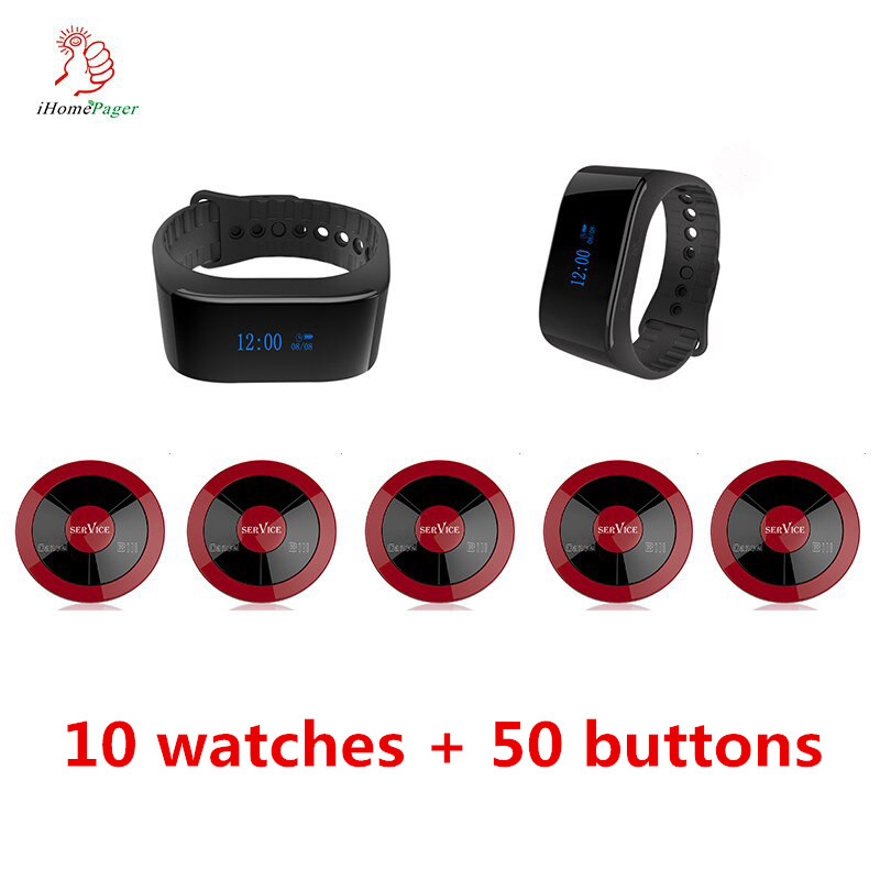 High Quality Wireless Table Pager Service Call Button System With Display Receiver Restaurant Cafe Auto 4S Shop Hospital