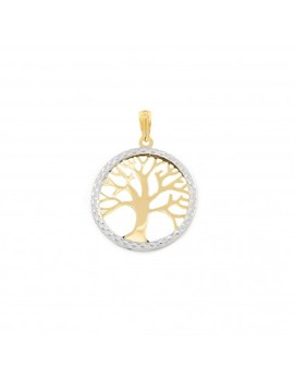 Pendant two-color openwork Tree of Life (9kts)