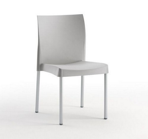 Chair SANDRA, Aluminum, Polypropylene Gray *