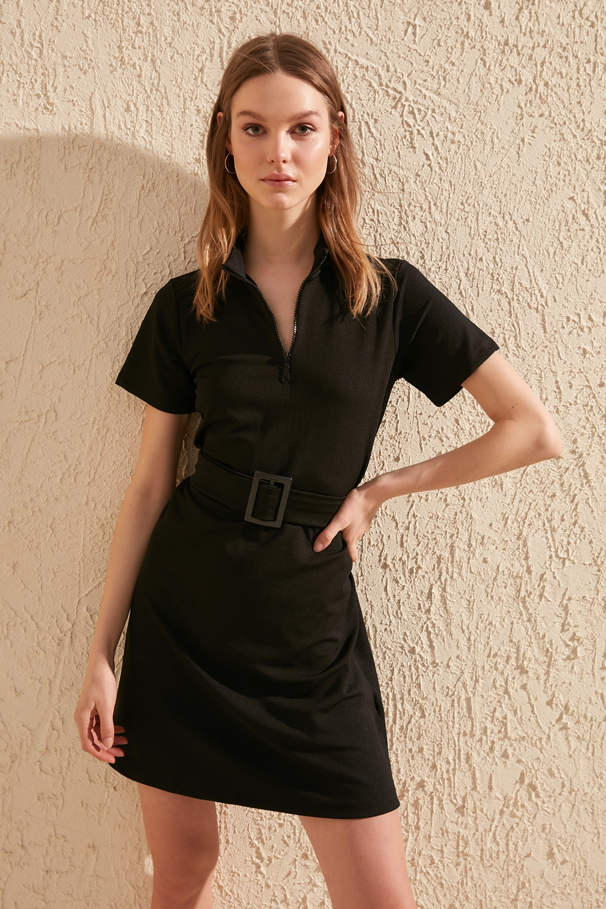 Trendyol Belted Knit Dress TWOSS20EL0785