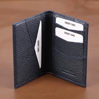 100% мужской кошелек из натуральной кожи премиум-класса, настоящие воловьи бумажники для мужчин, темно-синие кошельки